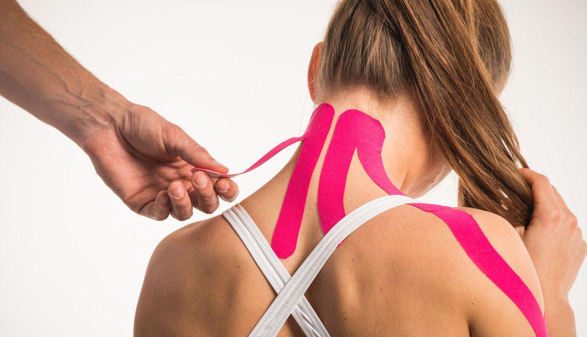 Кинезиотейпирование при остеохондрозе шеи ✔ тейпирование при боли в шее от А до Я